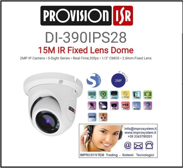 PROVISION ISR  DI-390IPS28 TELECAMERA IP S-SINGHT 2MP